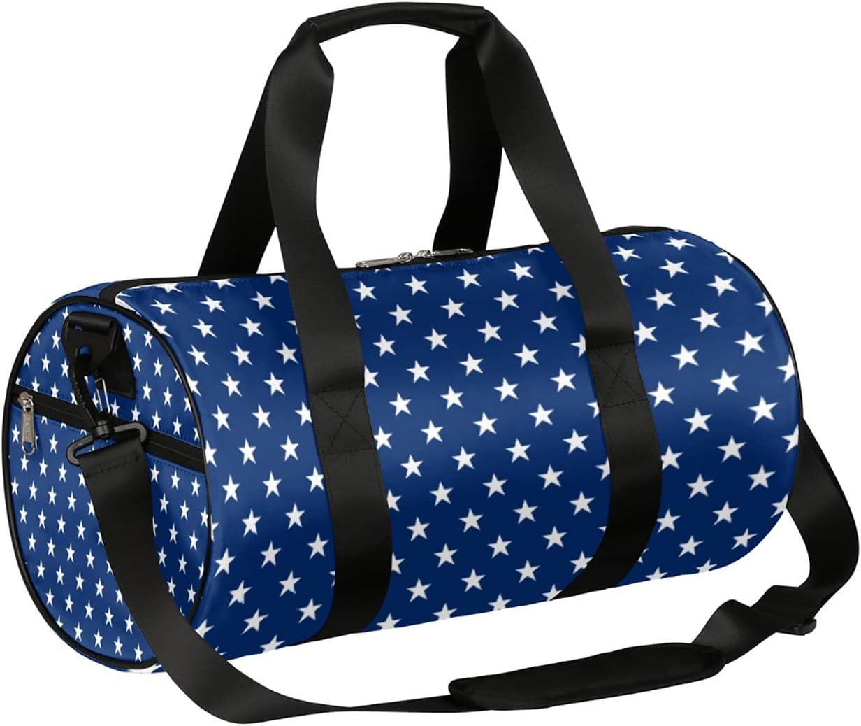 Sport Gym Bag Blue Star Fol Albuquerque Mall Duffel lightweight Portland Mall Pattern Small