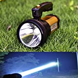 Odear Super Bright Torch Searchlight Handheld Portable LED Spotlight USB Rechargeable Multi-function Flashlight Outdoor Long Shots Lamp