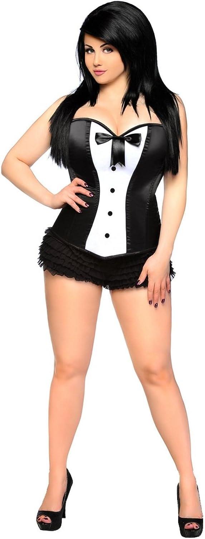 Daisy Corsets Lavish Tuxedo Button Corset