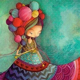 Rakkiss 5D Diamond Painting Rhinestone Dream Cartoon Fairy Tale World Girl Cute Embroidery Wallpaper DIY Wall