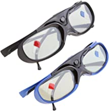H HILABEE 2X 3D Glasses For DLP-Link Projectors Active Shutter Acer/BenQ/Optoma
