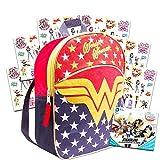 Wonder Woman Toddler Preschool Backpack Set - Bundle Includes Deluxe 11 Inch Wonder Woman Mini Backpack and Stickers (Wonder Woman School Supplies)