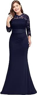 Babyonline Women Plus Size Formal Dress Bridesmaid Gown