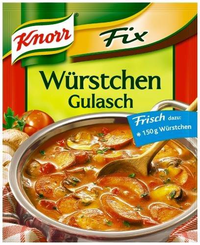 Knorr Fix für Würstchen-Gulasch, 22er Pack (22 x 32 g Beutel)
