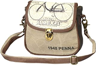 Myra Bag 1948 Penna Upcycled Canvas Small Crossbody Bag S-1211