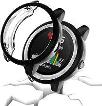 Noir + Clear Super mince en TPU Bumper Protecteur d/écran Clear Ecran Couverture compl/ète Shell de protection Transparent Film Leotop Compatible avec Garmin Vivoactive 3 Coque