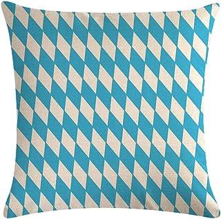 LPLH Serie de Rayas Azules Simples Lino Especial para cojín de sofá Explosivo Almohada cojín Funda de Almohada 573-17_45 * 45cm