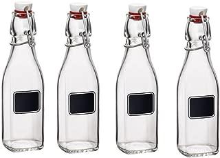 Bormioli Rocco Swing 8.5 Ounce Chalk Bottle, Set of 4