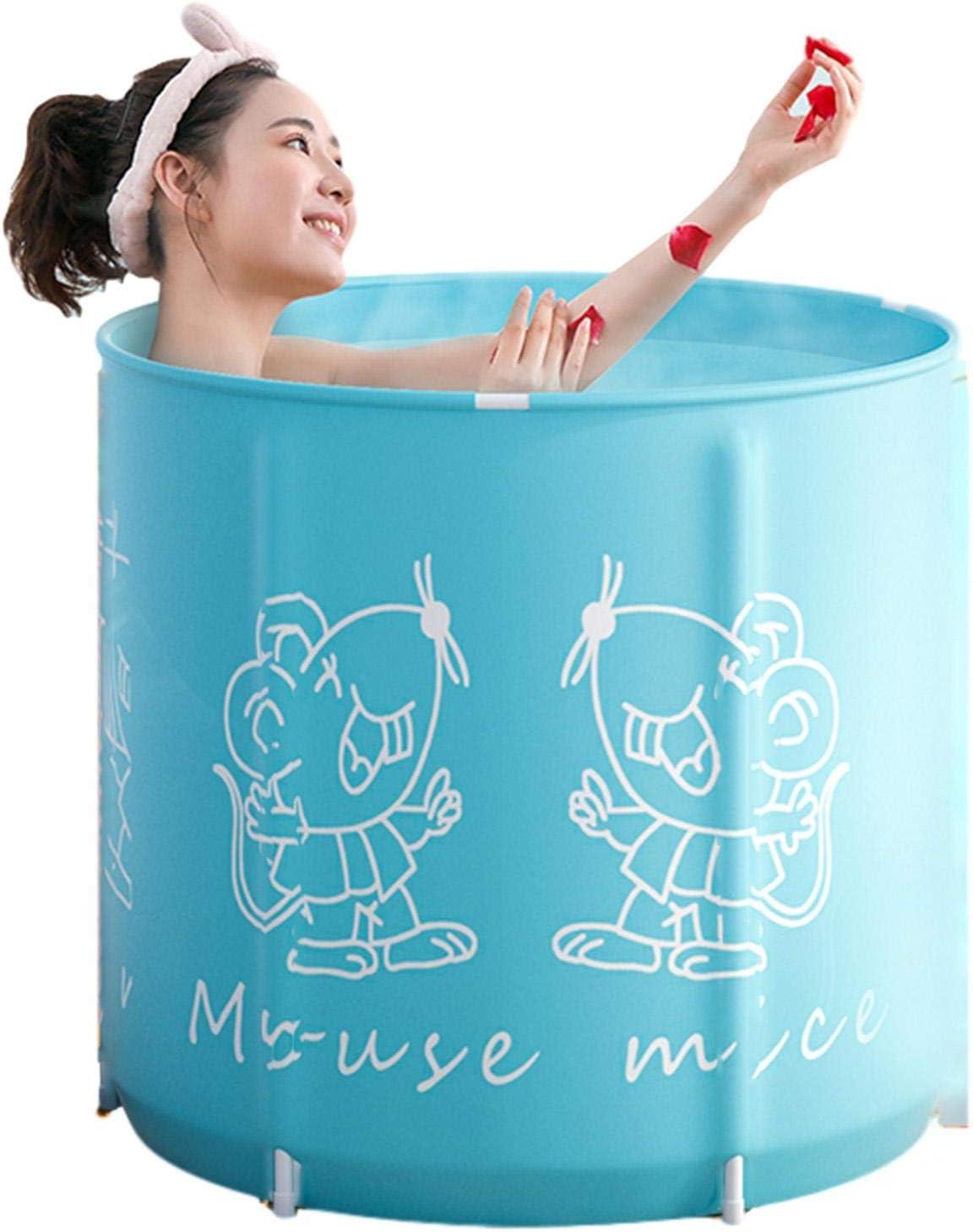 Jilijia Portable Bathtub,Folding Bathtub Set,Thicken Bath Barrel,Family Bathroom SPA Soaking Bathtub,Adult Large Bathtub