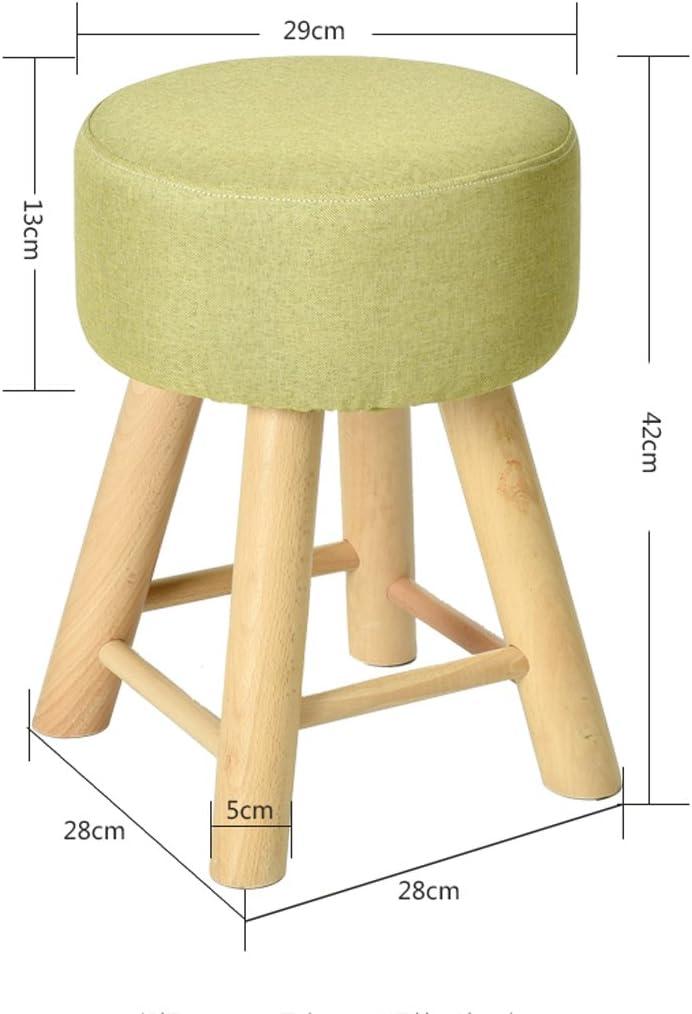 SLL- Tabouret en bois massif mode canapé tabouret tissu créatif banc maison tabouret Fauteuils et Chaises (Color : A) D
