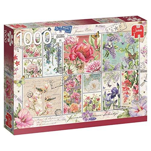 Jumbo- Sellos de Flores Puzzle de 1000 piezas (18597.0) , color/modelo surtido