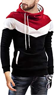 Leotude Cotton Maroon White Black Hoodie Jacket for Men