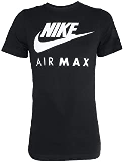 Nike Air Max Tee Men's Sport Slim Fit Fitness Cotton Shirt T-Shirt Black/White