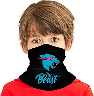 Mr Be-AST Seamless Face Cover Headband Scarf Multi-Functional Full-Coverage Tube Bandanas for Youth Boys/Girls