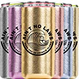 Can Cooler 6 Pack, Ain't No Laws When You Are Drinking Claws, Insulator Gift Set for 12OZ Tall Drinks like Claw, Red Bull, Truly, Michelob Ultra Neoprene