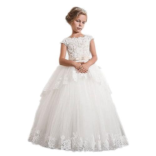 d6b2bb9b51 Kauste Lace Flower Girls Dress Girls First Communion Dress Princess Wedding  FB011