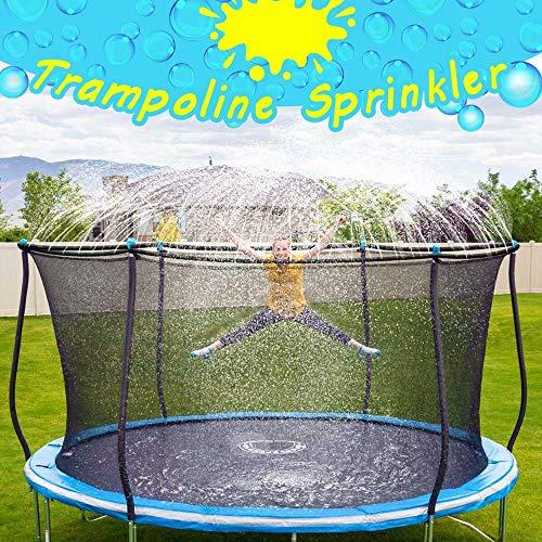 Trampolin-Sprinkler für Kinder, Trampolin-Wasserspiel-Sprinkler im Freien, lustige Sommerspiele im Freien Wasserspiele Yard Toys Sprinkler Backyard Water Park (39,3 Fuß)