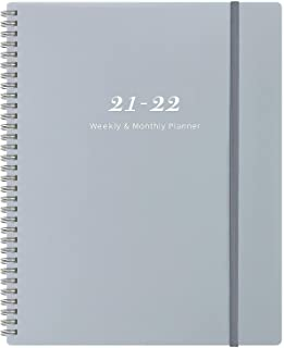 """2020-2021 Planner 9"""" x 11""""- Weekly & Monthly Planner with Tabs, Elastic Closure and Thick Paper, Back Pocket with 21 Notes..."""