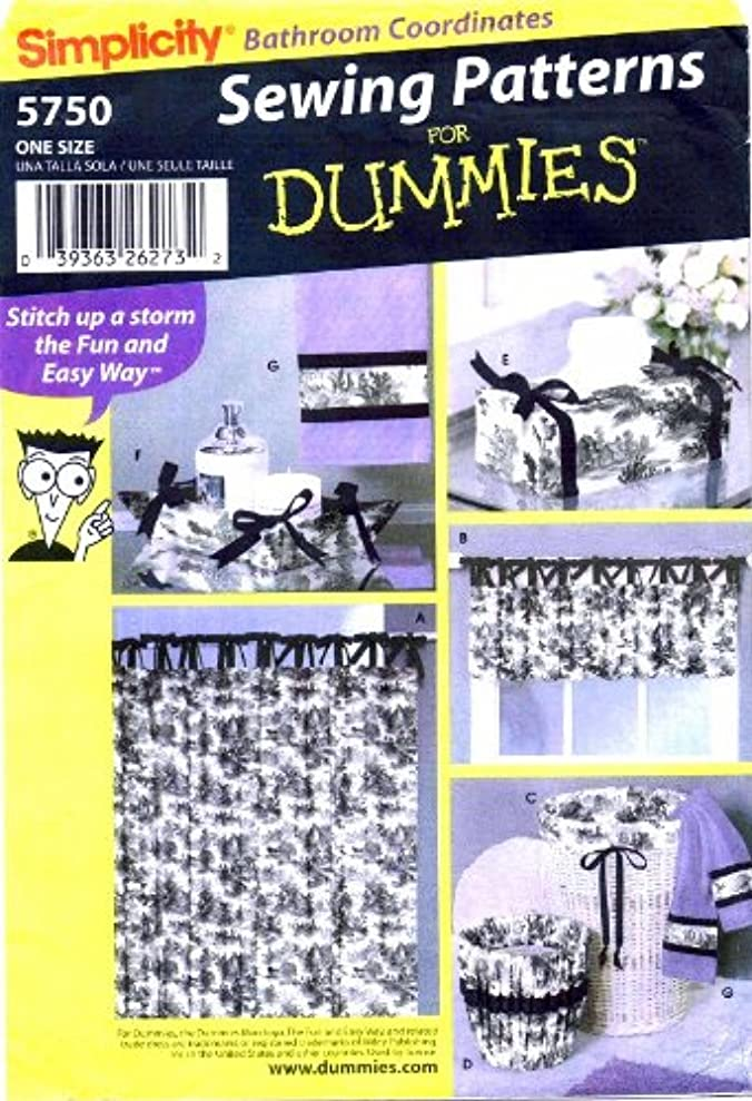 Simplicity Sewing Patterns for Dummies 5750 Bathroom Coordinates zuhrtjuwi8526