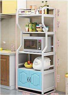 KOKOF Rack de cuisine four micro-ondes rack de stockage de plancher multi-couche type de plancher de cuisine artefact four...