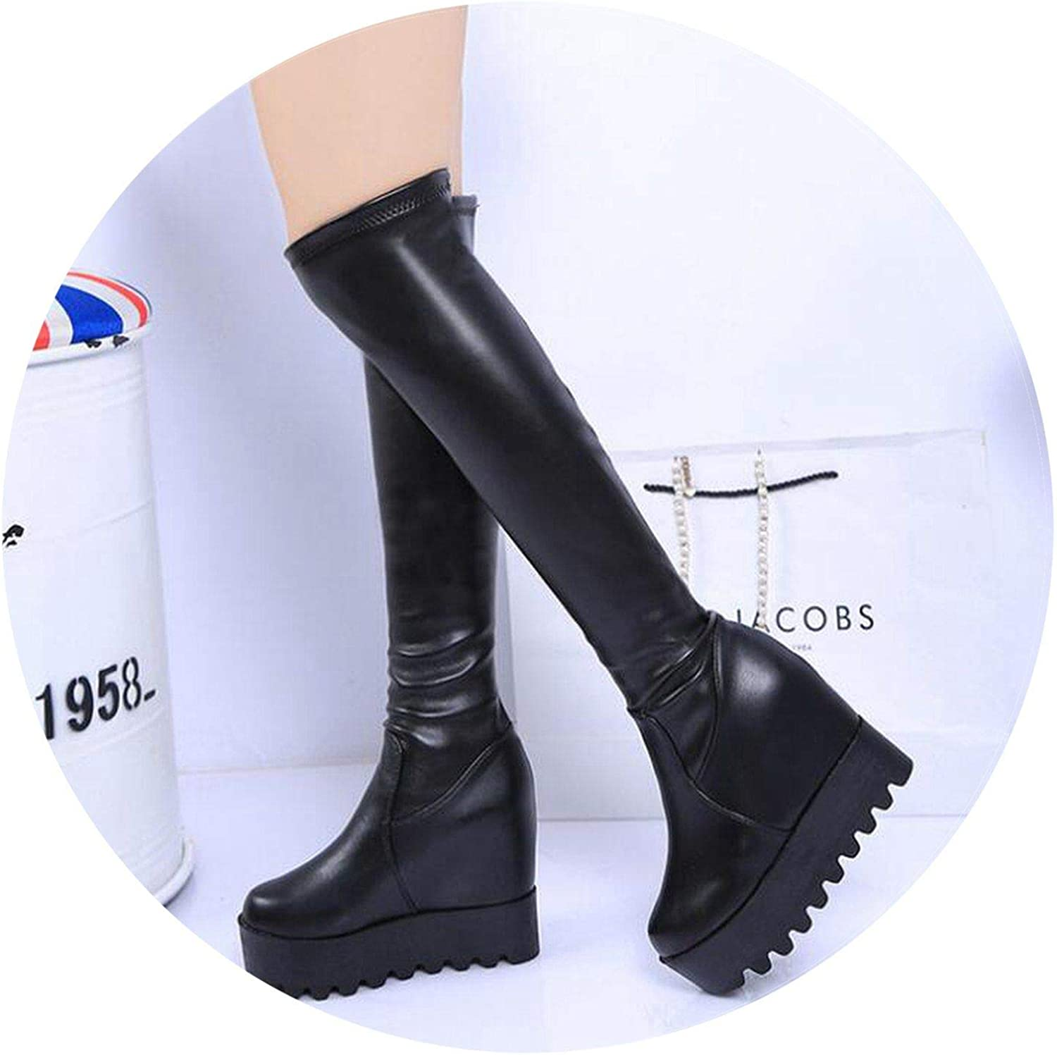 Summer-lavender Women shoes Winter Elastic Boots Women Boots Waterproof Over Knee Boots High Long Warm Boots