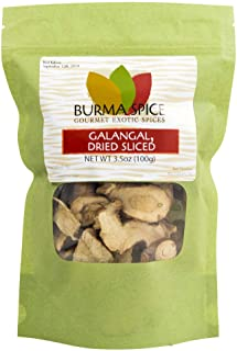 Dried Galangal, Sliced   Greater Galangal - Alpinia Galanga   Perfect for Tom Yum and Tom Kha Soups 3.5 oz.
