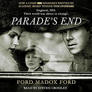 Parade's End                   By:                                                                                                                                 Ford Madox Ford                               Narrated by:                                                                                                                                 Steven Crossley                      Length: 38 hrs and 12 mins     223 ratings     Overall 4.1