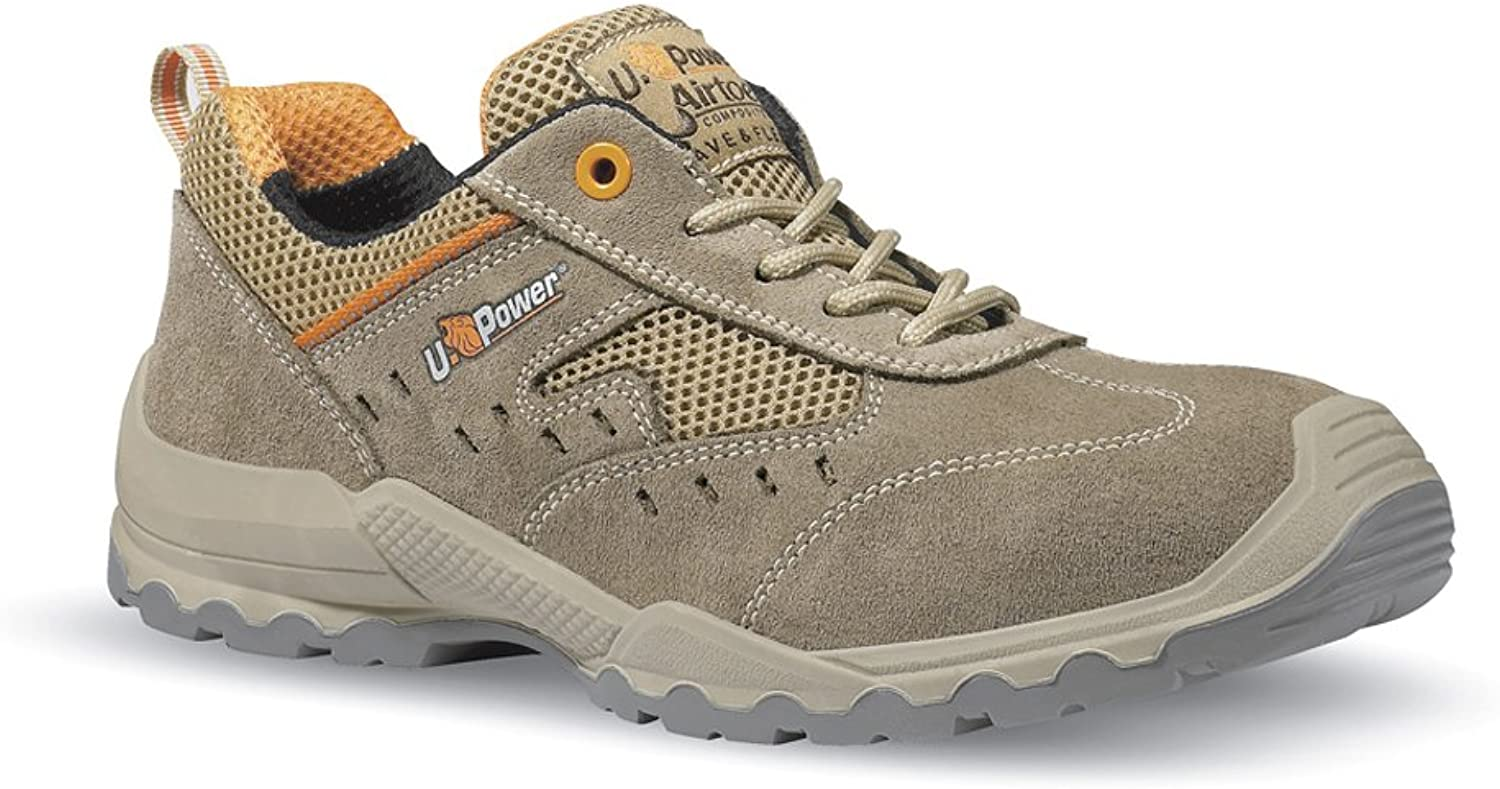 U-POWER Scarpa antinfortunistica Suede Leather With Corrugato Side Air S1