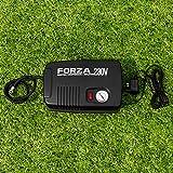 FORZA Pompe de Gonflage Électrique - Pompe à Ballons de Foot/Pneus avec Adaptateurs pour UE/USA/GB (230V)