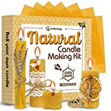 Candle Making Kit Beeswax - 22 Pcs ALL-INCLUSIVE DIY Candle Making Kit for Adults and Kids - Candle Making Supplies DIY Candle Maker - High Grade Beeswax Candle Making Kit - Beeswax Candle Starter Kit