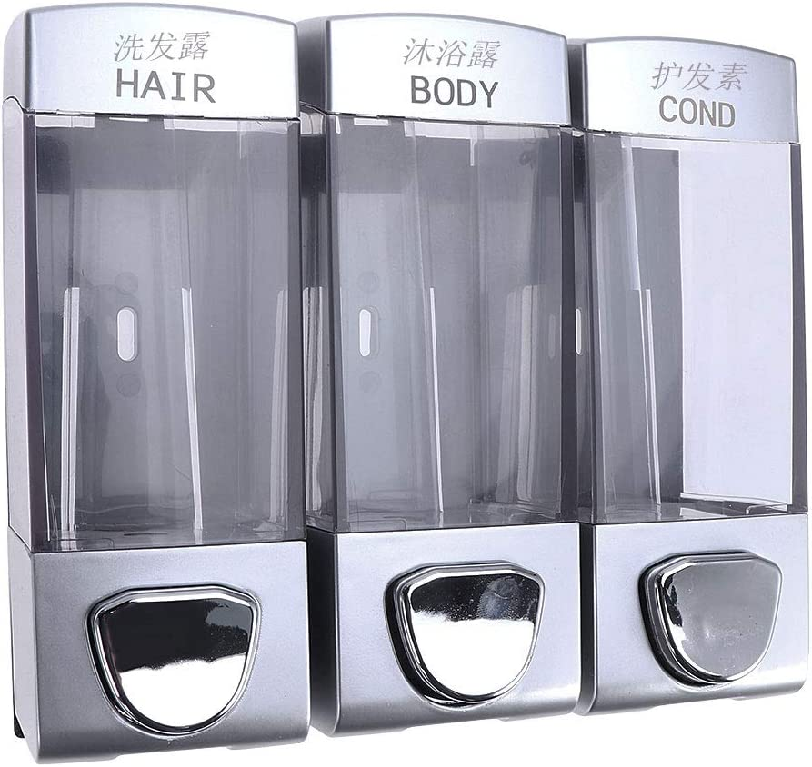 BESTOMZ Complete Free Shipping Wall-Mounted Three Chamber Cash special price Soap Shampoo Shower Dispenser