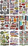 by soljo Conjunto de 9 Sponsors Hoja Racing Decal Sticker Tuning Racing Tamaño: 27 x 18 cm para el Coche o la Moto