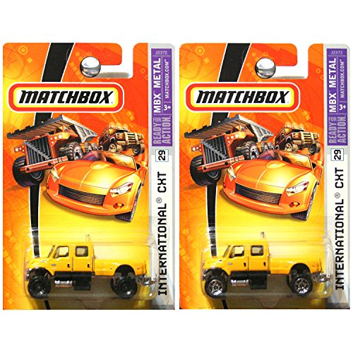 Matchbox International CXT Trucks in Yellow - Silver and Black Wheel Variations #29 SET OF 2