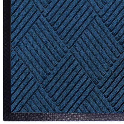 WaterHog Diamond-Pattern Commercial Grade Entrance Mat, Indoor/Outdoor Floor Mat 3' Length x 2' Width, Navy by M+A Matting