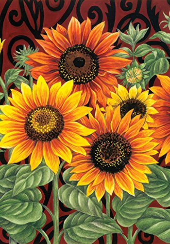 Toland Home Garden 110555 Toland-Sunflower Medley-Decorative Summer Fall Flower Floral Orange USA-Produced Garden Flag