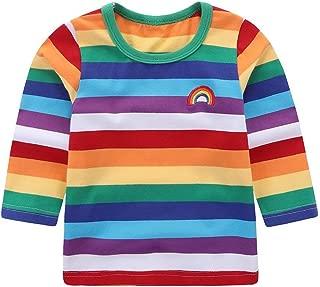 Little Boys' T-Shirt Rainbow Striped