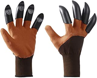Gardening Gloves with Claws for Yard Digging Work, Planting Tools Garden Gadget Supplies for Gardener, Gifts for Kid Dad M...