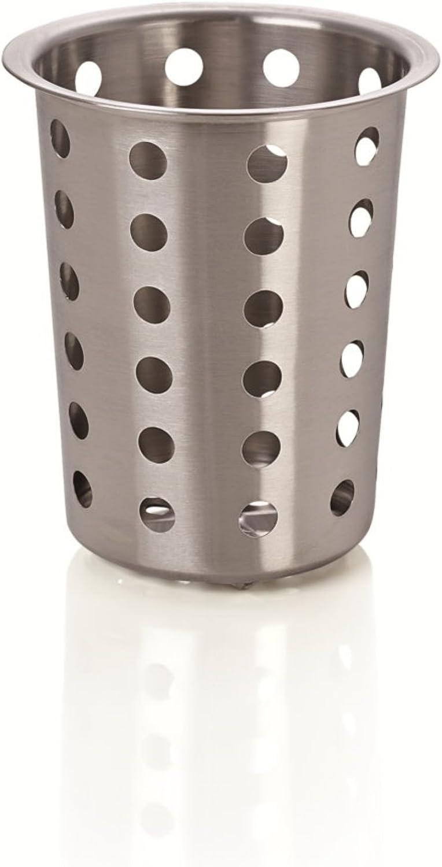 Kerafactum® - Cesto redondo para cubiertos y piezas pequeñas, para lavavajillas, universal, para cubertería, de acero inoxidable, malla gruesa – Cutlery Basket