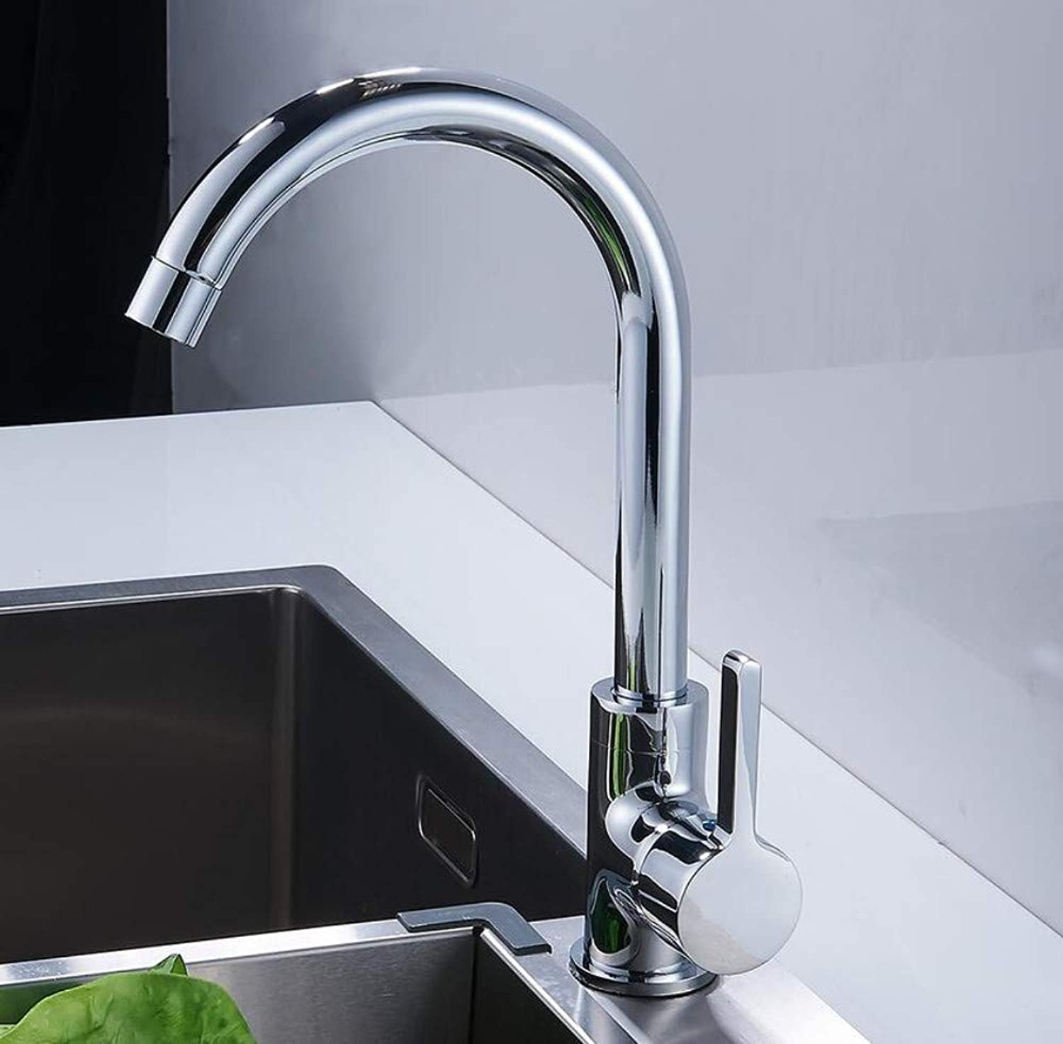Bathroom Faucet Hot and Cold Water Mixer Tap Kitchen Faucet Wall Mounted Brushed 360 Swivel Basin Faucet