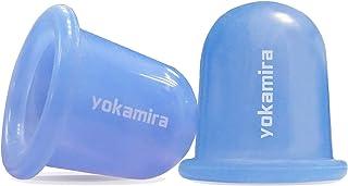 yokamira 2 Pcs Ventosa Celulitis Silicona, Cupping Ventosas Masaje Anticelulitica, Masajeador Anticelulítico Ventosa Anticelulitis, Anti-Celuliti para Piernas, Cuerpo, Cuello, Espalda (Azul)
