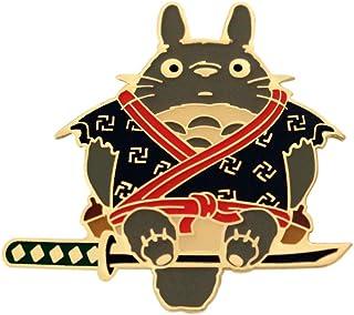 IronPatch Totoro Studio Samurai Hard Enamel Pin Ghibli Fashion Accessory for Lapels, Denim Jackets, Hats, Bags, Dress Shirts