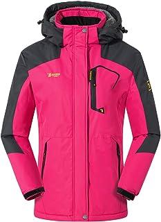 TBMPOY Women's Waterproof Snowboarding Skiing Jacket Warm Winter Snow Coat Mountain Windbreaker Hooded Raincoat