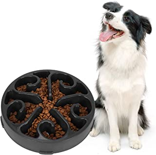 SUOSDEY Slow Feeder Dog Bowl Non Slip Non Toxic Fun Healthy Feeder No Chocking Dog Food Water Bowl for Large Medium Small Dogs Pet