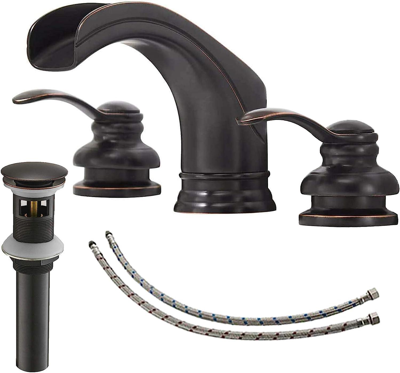 BATHLAVISH Oil Rubbed Bronze Bathroom Sales results No. 1 Waterfal Faucet Widespread store