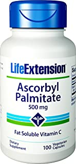 Life Extension Ascorbyl Palmitate 500 Mg, 100 veggie caps