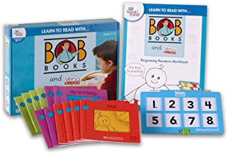hand2mind Learn to Read with Bob Books and VersaTiles – Beginning Readers Set (Ages 3-6) | Beginning Readers Game, 12 BOB Books, 20 Activities & 1 Answer Case