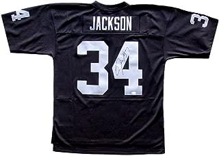 Bo Jackson Signed Oakland Raiders Replica Mitchell & Ness Black Jersey JSA ITP