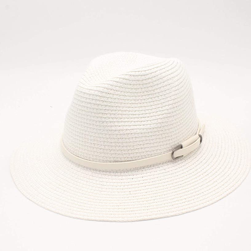 Brand Jazz Straw Floppy Hat Sun Hat Beach Women Men Hat Foldable Summer Uv Protect Travel Casual Hat Female