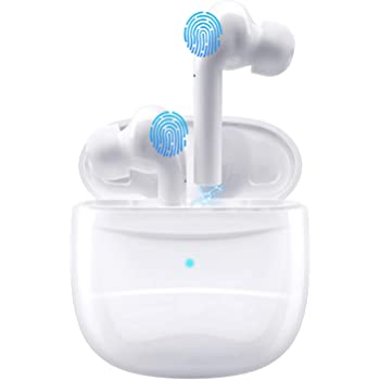 Wireless Earbuds,Coobetter Bluetooth Earphones Noise Canceling Headset V5.0 Stereo Waterproof Headphones Sport Bluetooth Headphones in Ear with Mini Charging Case and Integrated Microphone(White)