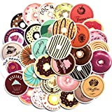 Inveroo 35pcs/Lot Norepeat Baking Doughnuts Food PVC Waterproof Stickers Decor Bakery Cake Shop Skateboard Snowboard Luggage Car Bike